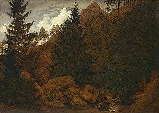 Rocks in the Harz mountain