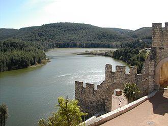 Foix (river) - Foix reservoir, view from Castellet