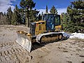 Caterpillar D5K2 on FR 488 on the Sandia Crest.jpg
