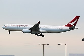 Cathay Dragon - Airbus A330-300 (B-HYQ), the first aircraft wearing the new livery released in 2016