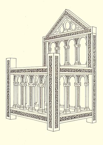 Throne - Drawing of the Cathedra Sancti Petri, in St. Peter's Basilica, Rome