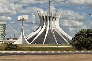 Cathedral of Brasília - Cathedral and the bell tower