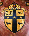 Cathedral of the Most Blessed Sacrament (Detroit, Michigan) - sanctuary floor inlay, Coat of Arms of the Archdiocese of Detroit.JPG