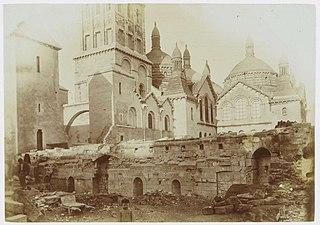 Photographie de l'élévation du mur du cloître de Périgueux