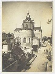 Photographie du chevet en restauration de la cathédrale de Tarbes