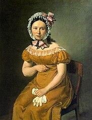 Cathrine Jensen, født Lorenzen, kunstnerens hustru