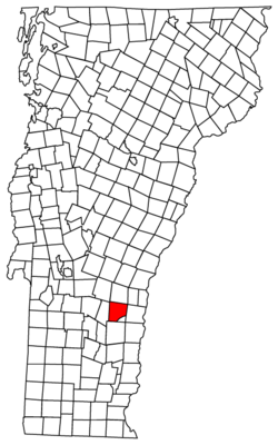 Location of Cavendish within Vermont