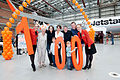 Celebrating our 100 aircraft milestone (8649525049).jpg