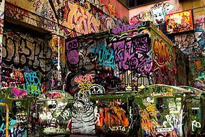 Centre Place, Melbourne - Centre Place Graffiti and Street Art