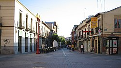 Carrer Madrid al Centre de Getafe