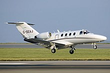Cessna 525 citationjet g-seaj arp.jpg