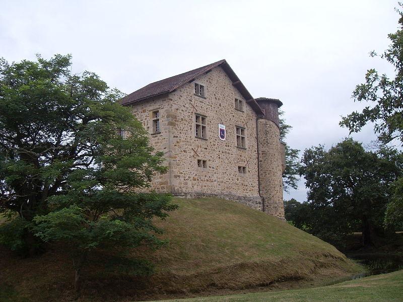 Château de Camoumotte, fossé, basse cour