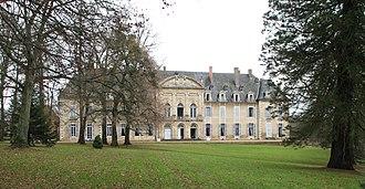 La Ferté Abbey - Front elevation of the Château de la Ferté