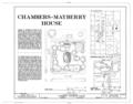 Chambers-Mayberry House, Northwest corner of Oak Street and Fifth Avenue (moved to Crofton, NE), Niobrara, Knox County, NE HABS NEB,54-NIOB,1- (sheet 1 of 4).png