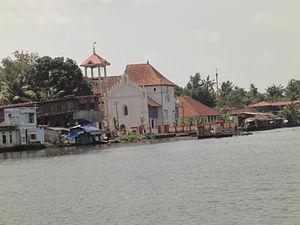Champakulam - Image: Champakulam Valia Palli River Pampa