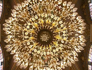 Chandelier - Underside of a chandelier, Valencia town hall