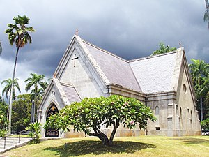 Royal Mausoleum of Hawaii - The main building is now a chapel