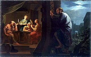 Saint Nicolas dote les trois jeunes filles pauvres