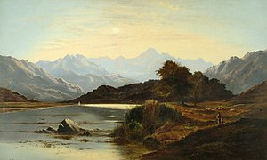 Ave Maria (Schubert) - 1879 painting of Ellen's Isle, Loch Katrine