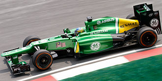Charles Pic - Pic driving for Caterham at the 2013 Malaysian Grand Prix