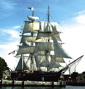 Le Charles W. Morgan au Mystic Seaport