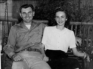 Charles P. Murray Jr. - Murray with his wife Anne after returning from Europe in September 1945