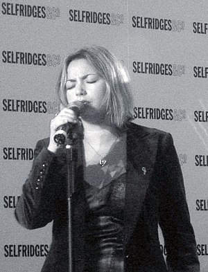 Charlotte Church - Charlotte Church performing at Selfridges, 2005