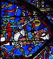 Chartres - Vitrail - Scène de combats de chevaliers.jpg
