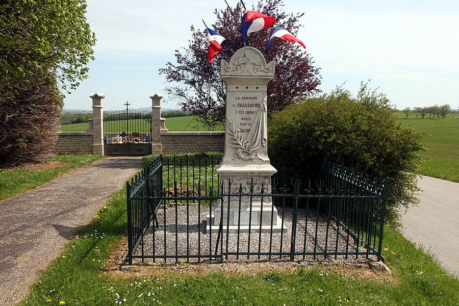 Monument aux morts de Chassagne-Saint-Denis (Doubs).