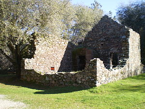 Cherokee, California - Ruins of Cherokee Bank