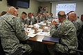 Chief of Staff of the U.S. Army Gen. Raymond T. Odierno, listens to a command briefing from seven brigade commanders and Maj. Gen. Stephen R. Lanza, 7th Infantry Division commanding general, at the division 130626-A-IP604-014.jpg