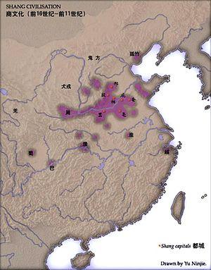 Kina under Shang. Huang He i norr.