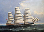 Chinese School - Portait of Full-Rigged Ship 'Bengal'.jpg