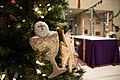 Chrismon Tree in the Sanctuary of a Catholic church.jpg