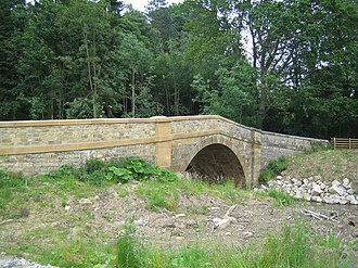 River Rye, Yorkshire - Church Bridge at Hawnby crossing the upper reaches of the River Rye.