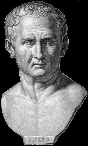 Cicero, Kopiezeichnung einer Büste aus London ...