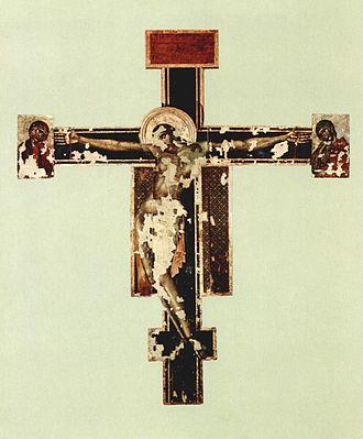 Crucifix (Cimabue, Santa Croce) - State before restoration