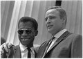 Civil Rights March on Washington, D.C.(Author James Baldwin and actor Marlon Brando.) - NARA - 542060.tif