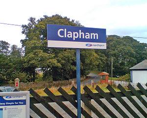 Clapham railway station - Image: Claphamstationsign