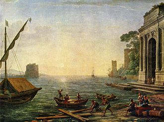 1674 in art -  Seaport by Claude Lorrain