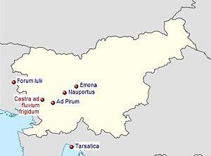Claustra Alpium Iuliarum - Image: Claustra Alpium Iuliarum locator map