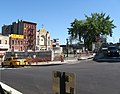 Climbing Canal St to Manhattan Bridge bikeway jeh.jpg