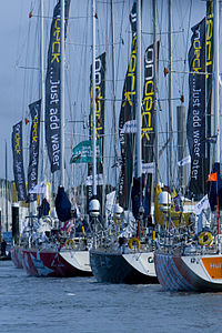 Clipper fleet at Cowes Week 2008.jpg