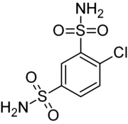 Skeletal formula of clofenamide