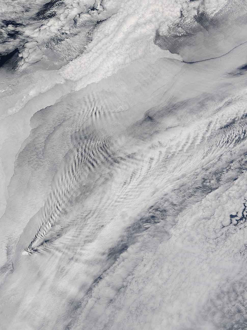 Cloud Patterns Over the Prince Edward Islands