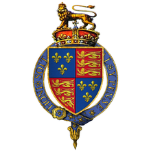 Henry VI coat of arms used between 1422-1460, 1470-1471.