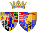 Coat of arms of Joséphine of Lorraine as Princess of Carignan.png