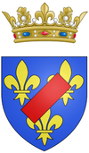 Coat of arms of Louis Auguste de Bourbon, Légitimé de France, Duke of Maine.png