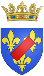 Description de l'image Coat of arms of Louis Auguste de Bourbon, Légitimé de France, Duke of Maine.png.