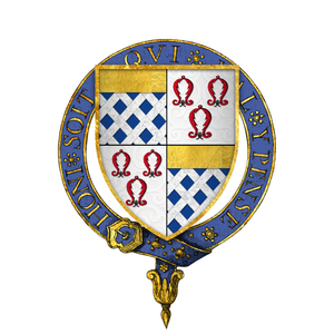 Anthony St Leger (Lord Deputy of Ireland) - Image: Coat of arms of Sir Anthony St. Leger, KG
